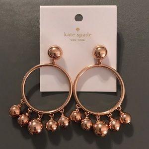 Kate Spade Bauble Ball Hoop Earrings. NWT